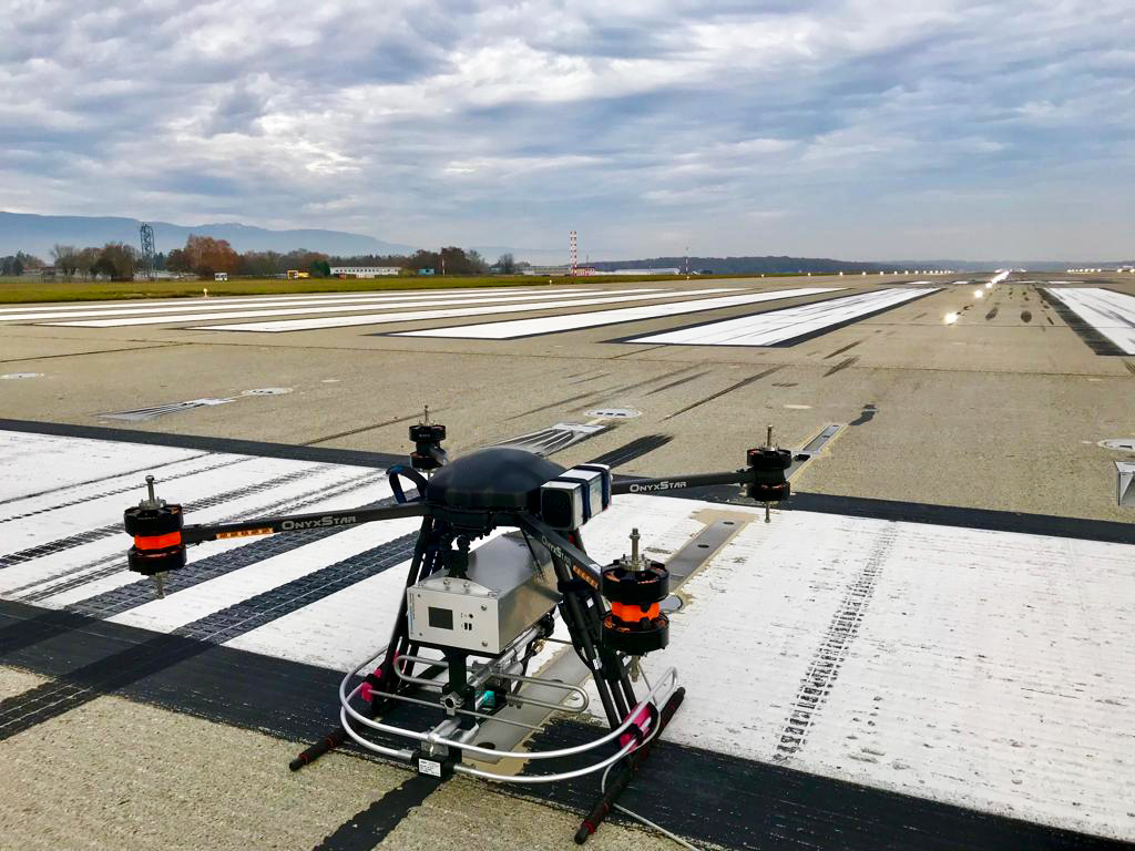 Airport automatic landing systems (ILS) calibration using drones